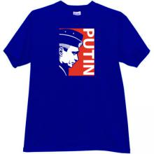 PUTIN Russian President T-shirt in blue
