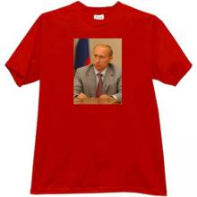 Vladimir Putin - Russian patriotic t-shirt in red
