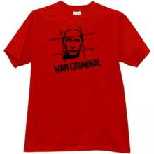 Putin - WAR CRIMINAL T-shirt in red