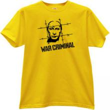 Putin - WAR CRIMINAL T-shirt in yellow