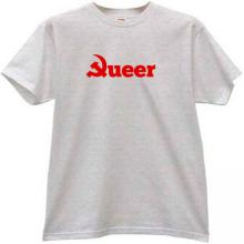 Queer Communism Funny T-shirt in gray