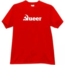 Queer Communism Funny T-shirt in red