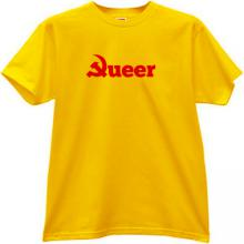Queer Communism Funny T-shirt in yellow