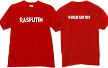 RASPUTIN - Never Say Die Cool T-shirt in red