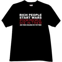 Rich People Start Wars Cool T-shirt in black