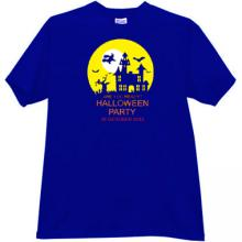 Are you ready? Halloween Party T-shirt in blue