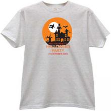 Are you ready? Halloween Party T-shirt in gray