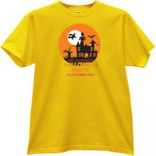 Are you ready? Halloween Party T-shirt in yellow