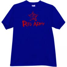 Red Army emo T-shirt in blue