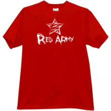 Red Army emo T-shirt in red