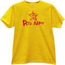 Red Army emo T-shirt in yellow