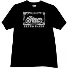 Retro Racer Cool moto T-shirt in black