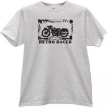 Retro Racer Cool moto T-shirt in gray