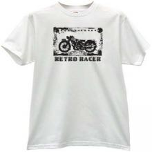 Retro Racer Cool moto T-shirt in white