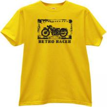 Retro Racer Cool moto T-shirt in yellow