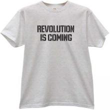 Revolution is coming T-shirt in gray