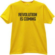 Revolution is coming T-shirt in yellow