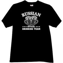 Russian Official Drinking Team Funny t-shirt in black