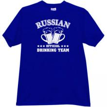 Russian Official Drinking Team Funny t-shirt in blue