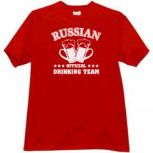 Russian Official Drinking Team Funny t-shirt in red