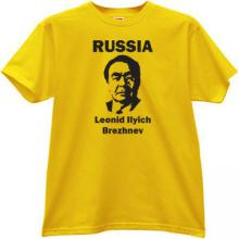 Leonid Ilyich Brezhnev Russia T-shirt in yellow