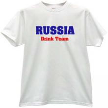RUSSIA Drink Team Funny T-shirt