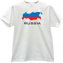 RUSSIA Patriotic T-shirt in white En