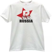 Russia Revolution T-shirt in white