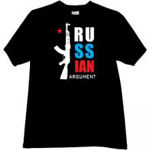 Russian Argument ak47 T-shirt in black