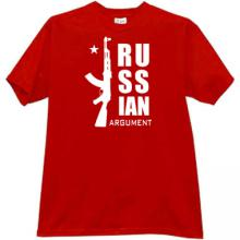 Russian Argument ak47 T-shirt in red