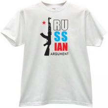 Russian Argument ak47 T-shirt in white