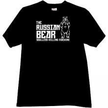 The Russian Bear - soulless killing machine T-shirt in black