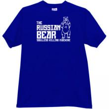The Russian Bear - soulless killing machine T-shirt in blue