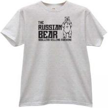 The Russian Bear - soulless killing machine T-shirt in gray