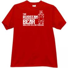 The Russian Bear - soulless killing machine T-shirt in red