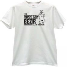 The Russian Bear - soulless killing machine T-shirt in white