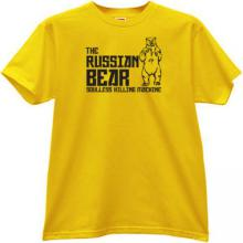 The Russian Bear - soulless killing machine T-shirt in yellow