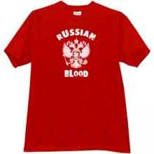 RUSSIAN BLOOD Cool Russian Patriotic T-shirt in red