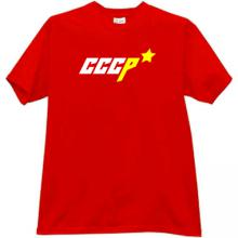 Russian CCCP USSR with Star T-shirt in red