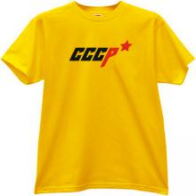 Russian CCCP USSR with Star T-shirt in yellow
