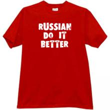 RUSSIAN DO IT BETTER Cool Russian T-shirt in red