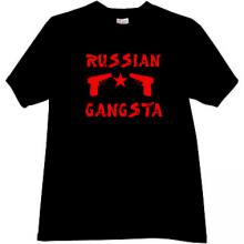 RUSSIAN GANGSTA Cool T-shirt in black