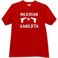 RUSSIAN GANGSTA Cool T-shirt in red