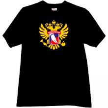 Russian Hockey T-shirt in black