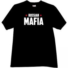 Russian Mafia New T-shirt in black