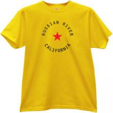 Russian River - California Cool T-shirt in yellow