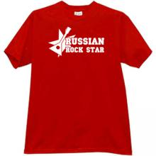 Balalaika Russian Rock Star Funny T-shirt in red