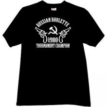 Russian Roulette Tournament Champion T-shirt in black