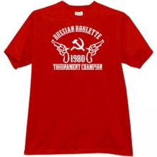 Russian Roulette Tournament Champion T-shirt in red