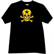 Russian Star Skull T-shirt in black